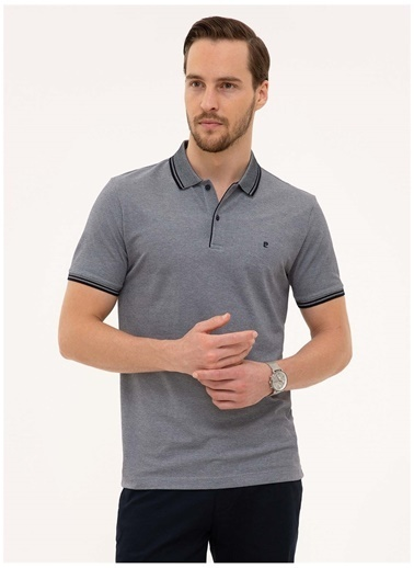 Pierre Cardin Pierre Cardin Erkek Koyu Lacivert Polo Yaka T-Shirt Lacivert